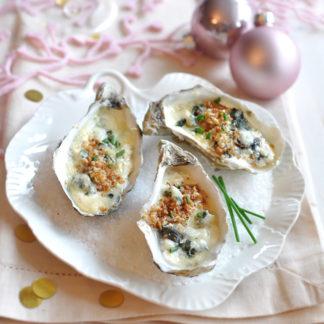 Huîtres gratinées au Roquefort Société